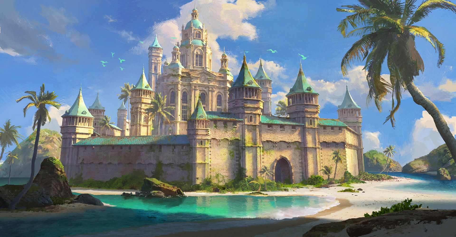 resortdaegeon jang | fantasy castle art | creative art, artist