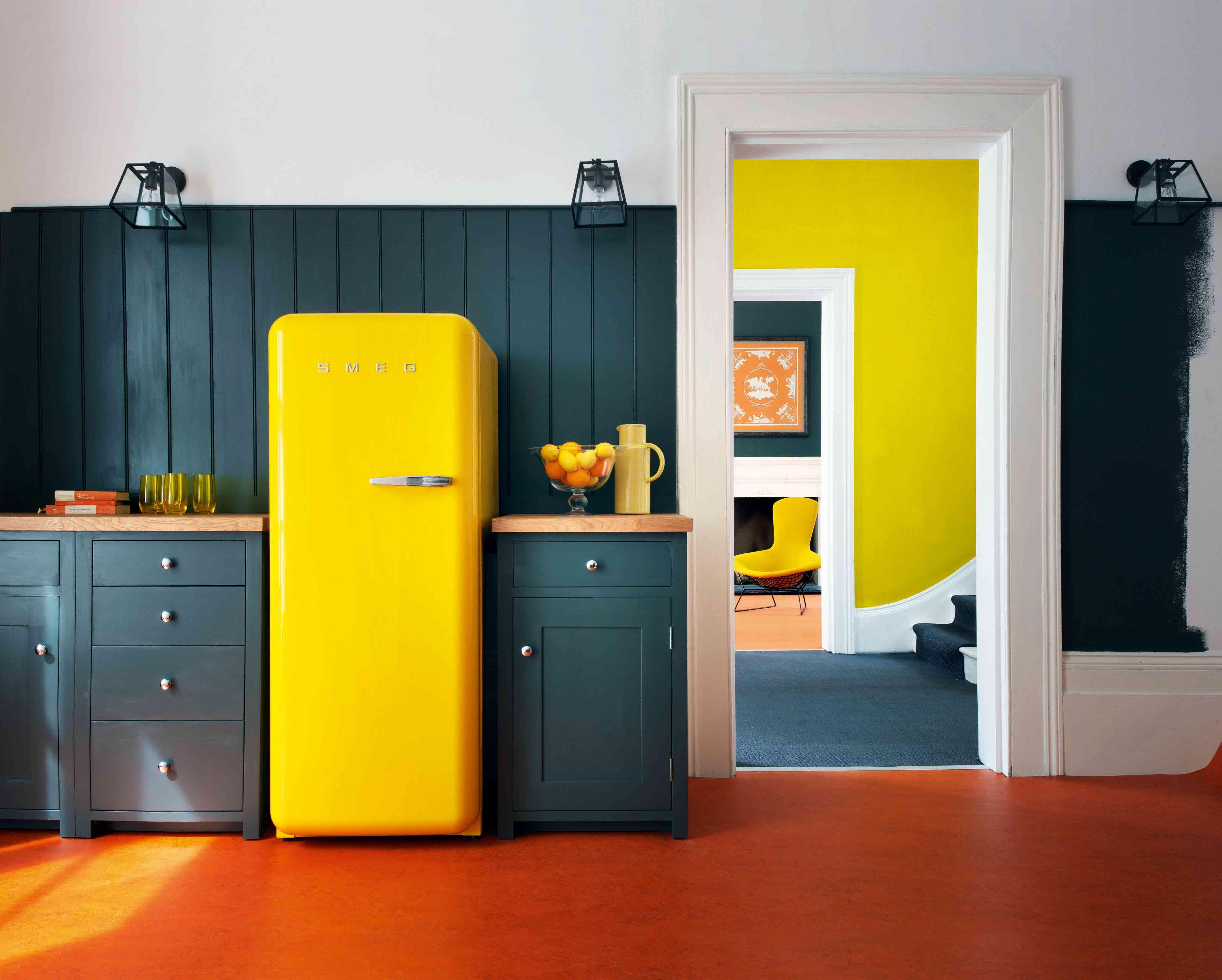 yellow fridge INTERIOR DECORATING Pinterest