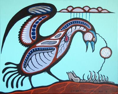 Carl Ray Art Life Cycle By Carl Ray Native Art Gallery Red