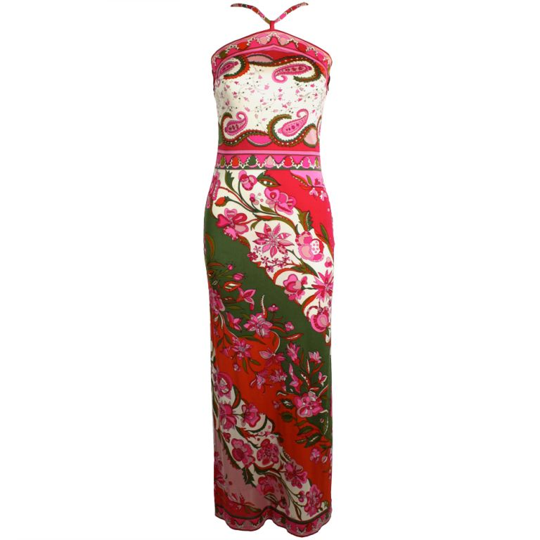 9f0f90fb5c58 Preowned 1960s Vintage Pucci Silk Palazzo Pants Jumpsuit Strapless ...