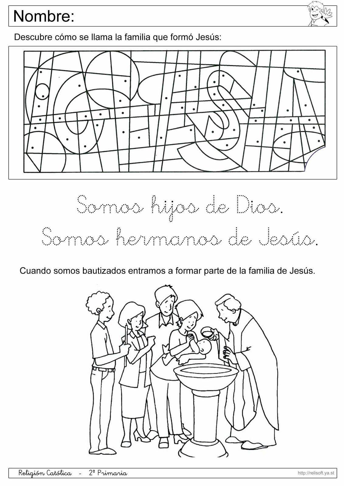 Recursos Religion Católica: Fichas 1º y 2º Primaria | RELIGIÓN ...