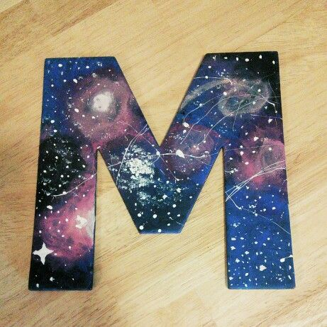 diy galaxy letters so excited with how this came out it was really