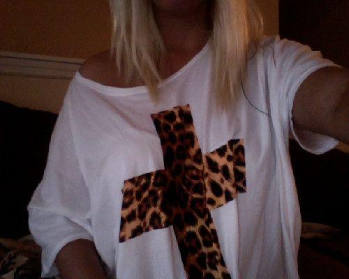 leopard print blusa