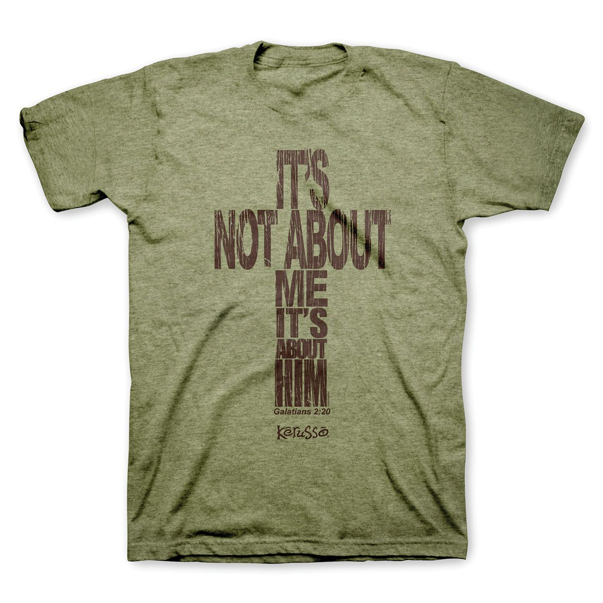 """In a culture obsessed with selfies and reality shows all about """"ME"""" you  will definitely stand out when you wear this Christian shirt that says  it loud and clear - 'IT'S NOT ABOUT ME IT'S ABOUT HIM"""" Galatians 2:20  makes it easy to understand by saying it this way: """"I have been  crucified with Christ and I no longer live but Christ lives in me."""""""