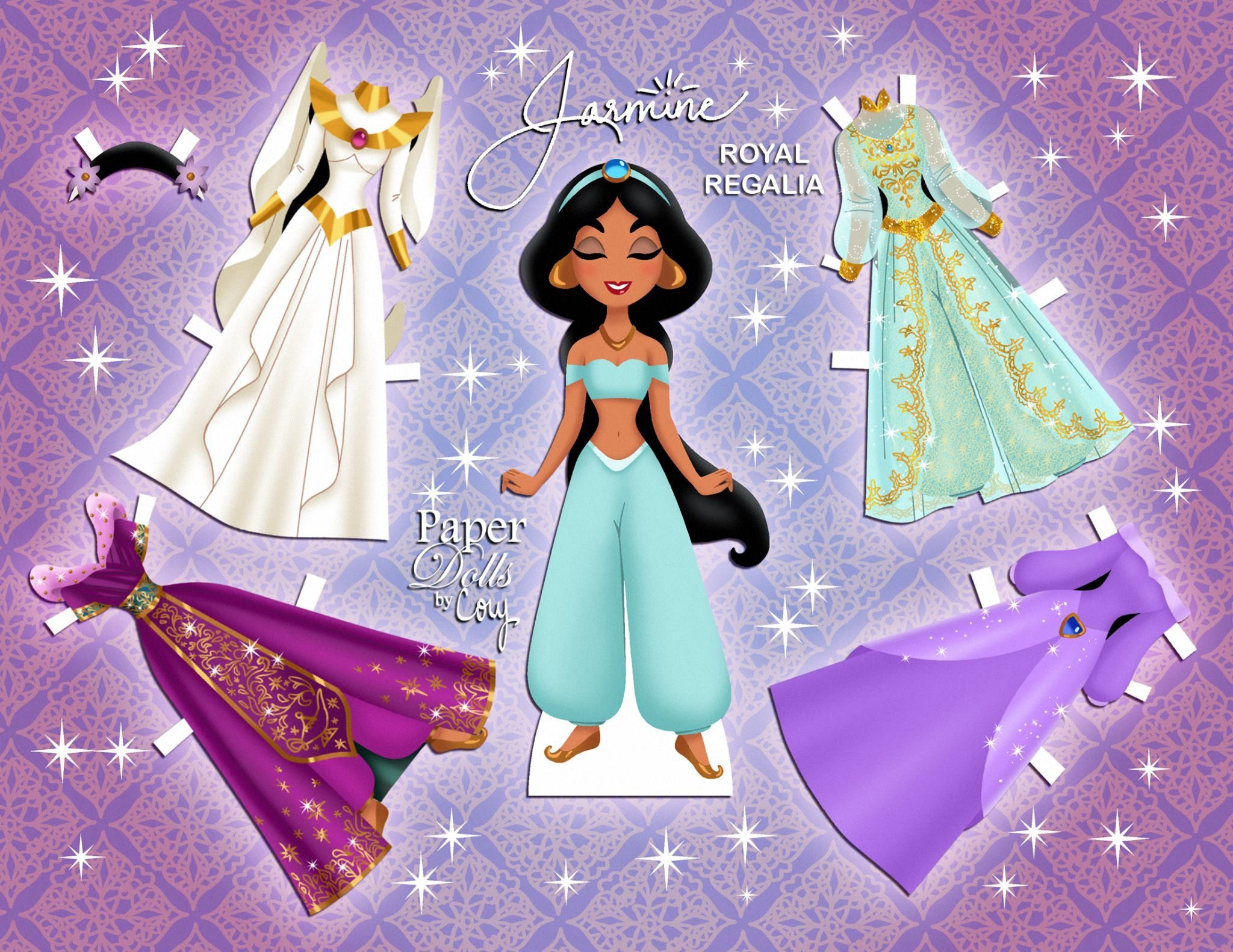 Jasmine Paper Doll And Clothes
