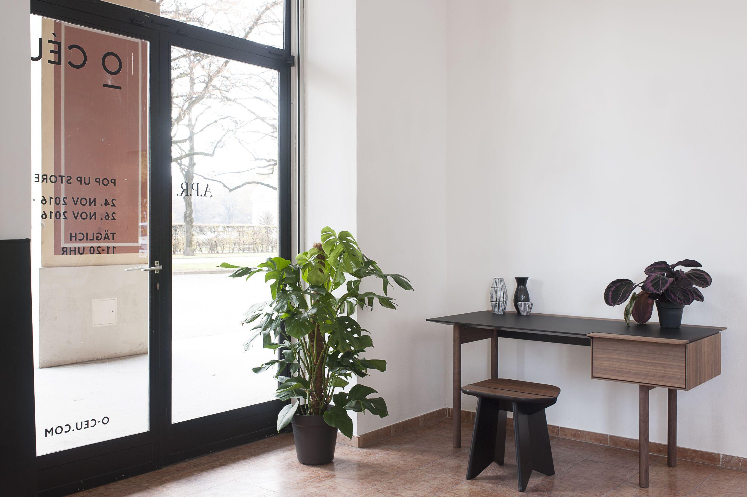 """CHEFÉ desk made of Walnut and black """"Fenix"""" coating // o-ceu.com"""