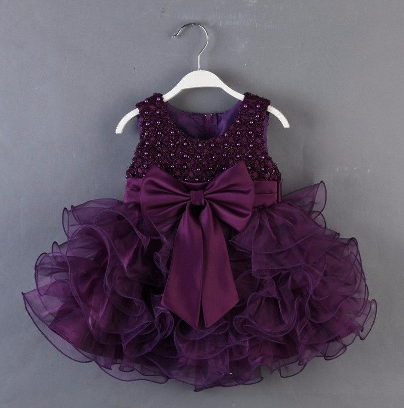 2016 New Arrival First Communion Dresses For Girl Eggplant Purple ...
