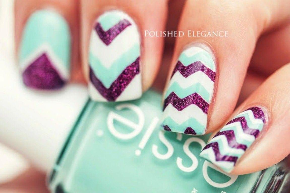 Mint Nail Designs Spring Trend | Nail Art | Pinterest | Diseños de ...