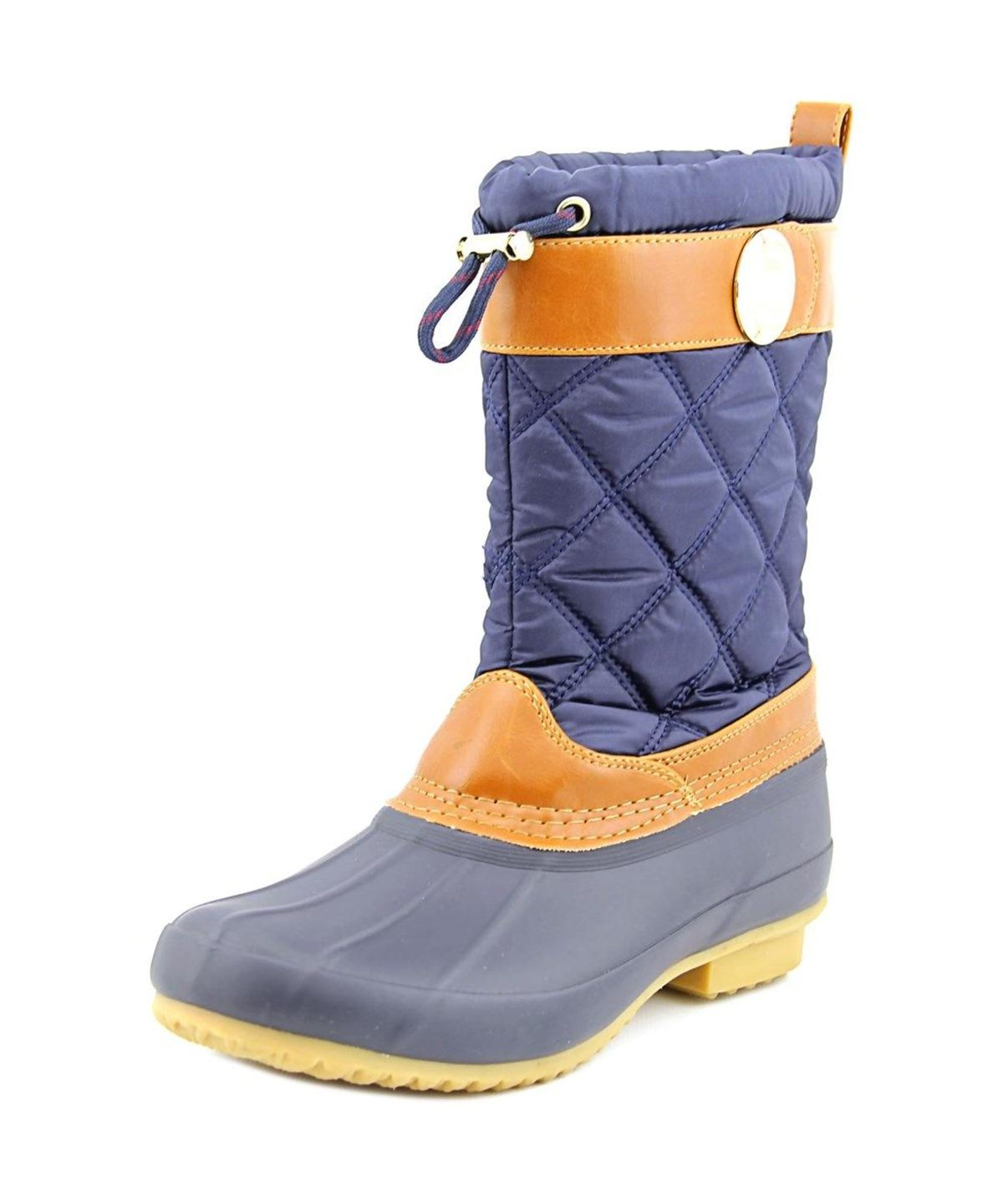 TOMMY HILFIGER TOMMY HILFIGER ARCADIA WOMEN  ROUND TOE CANVAS BLUE RAIN BOOT'. #tommyhilfiger #shoes #boots & booties