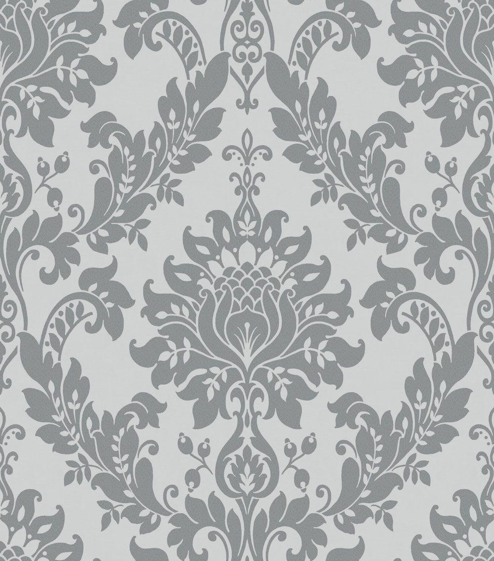 Clara By Albany Charcoal Wallpaper Wallpaper Direct Damask Wallpaper Damask Wallpaper Living Room Charcoal Wallpaper