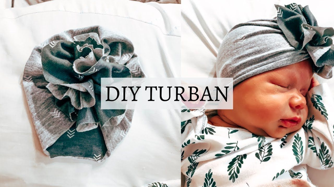 DIY: SUPER EASY Ruffle Baby Turban
