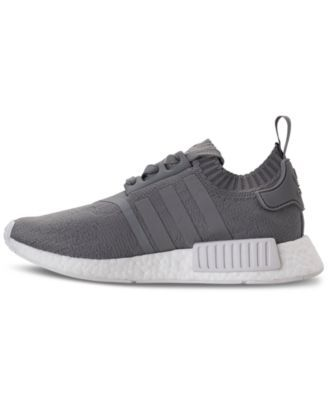 3bbe62d88666 adidas Women s Nmd R1 Primeknit Casual Sneakers from Finish Line - GREY  WHITE 7.5