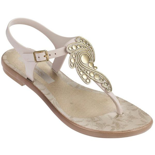 Ipanema Grace Sandal - Beige ($35) ❤ liked on Polyvore featuring shoes,  sandals. Ipanema SandalsT Bar ...