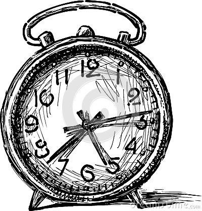 Old Alarm Clock Clock Drawings Clock Alarm Clock