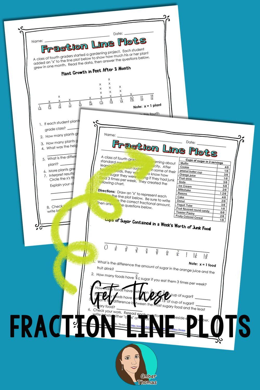 medium resolution of Fraction Line Plot Worksheets   Line plot worksheets