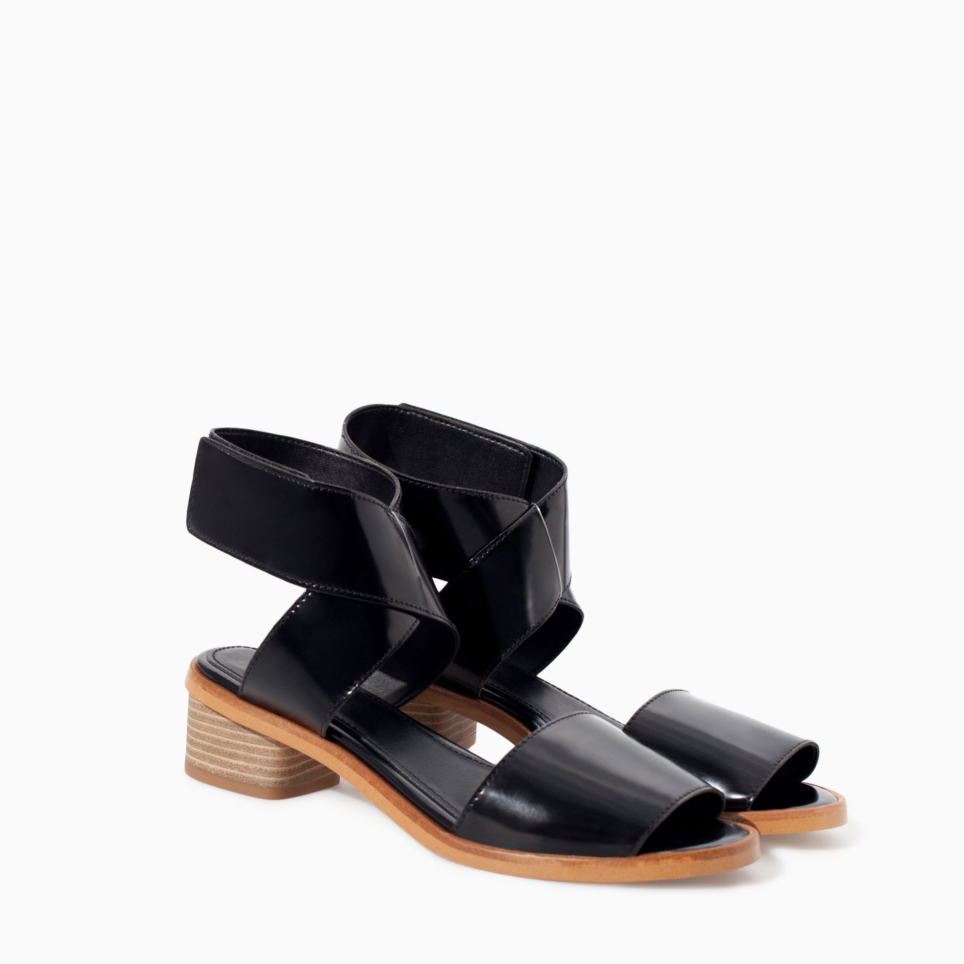 3e7cf16e770 ANKLE STRAP SANDAL WITH VELCRO - Shoes - TRF - SALE