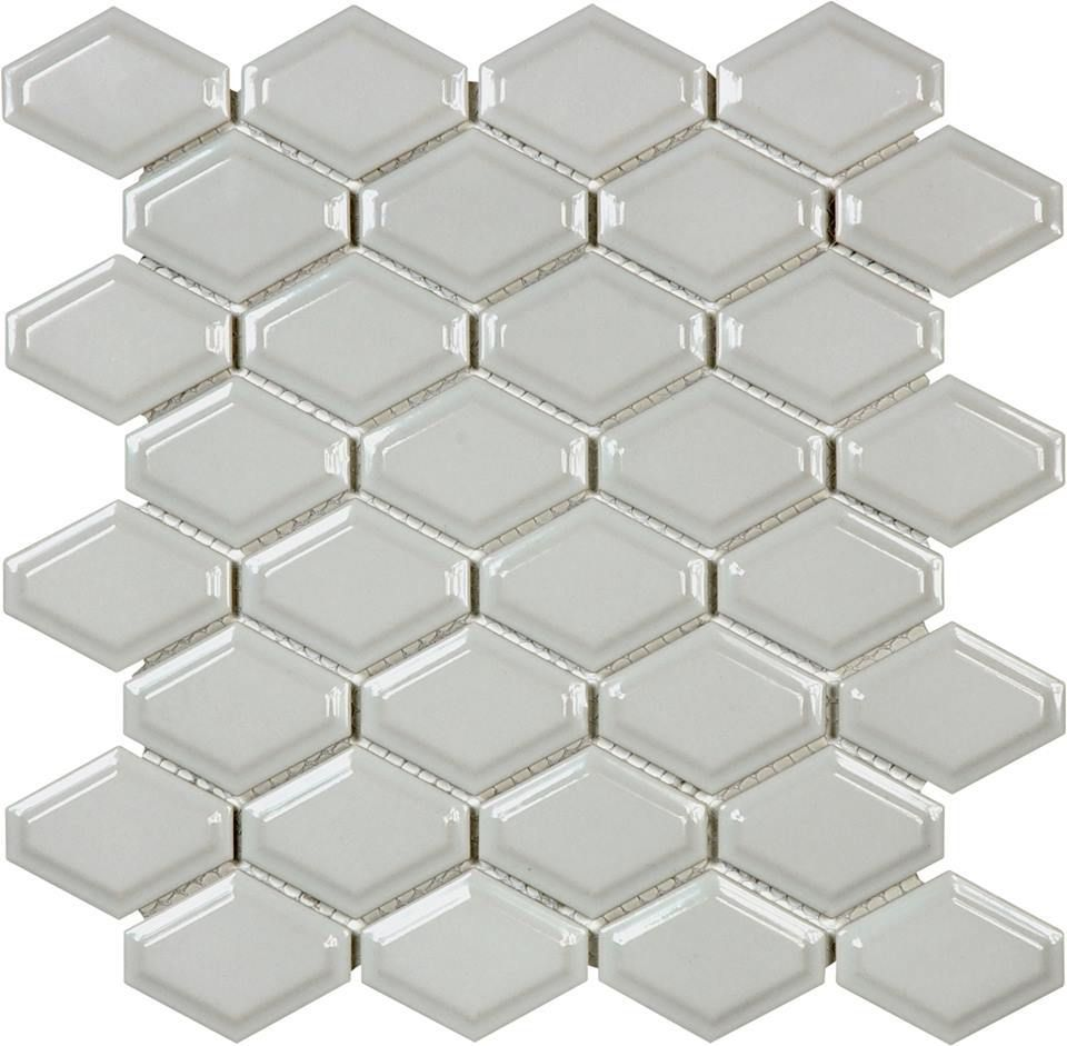 Beveled Convex Mosaic - Glossy Grey - On Sale - $6.49 per sheet ...