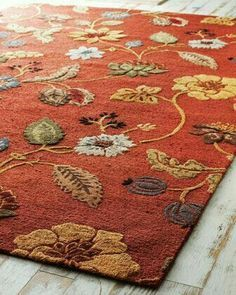 Pin By Elly 3 On Color Themes Floral Rug Rugs Autumn Home