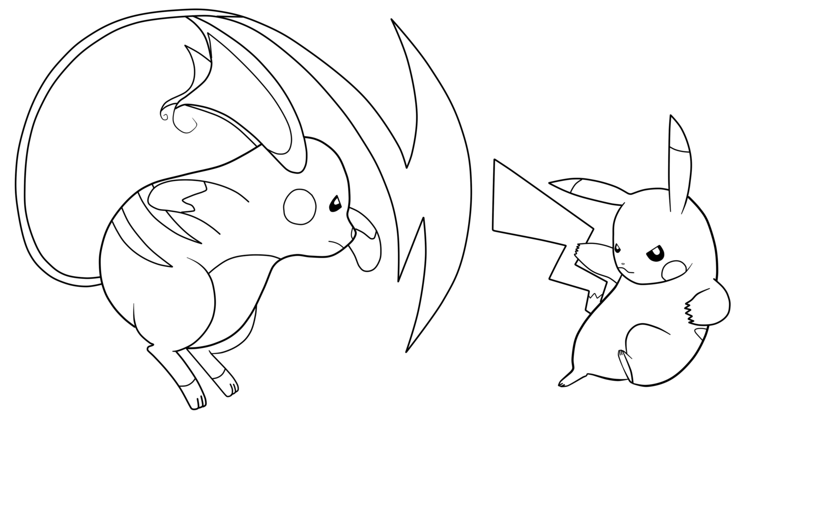 Raichu Coloring Page For Quick Pikachu Coloring Page Pokemon Coloring Pages Pokemon Coloring
