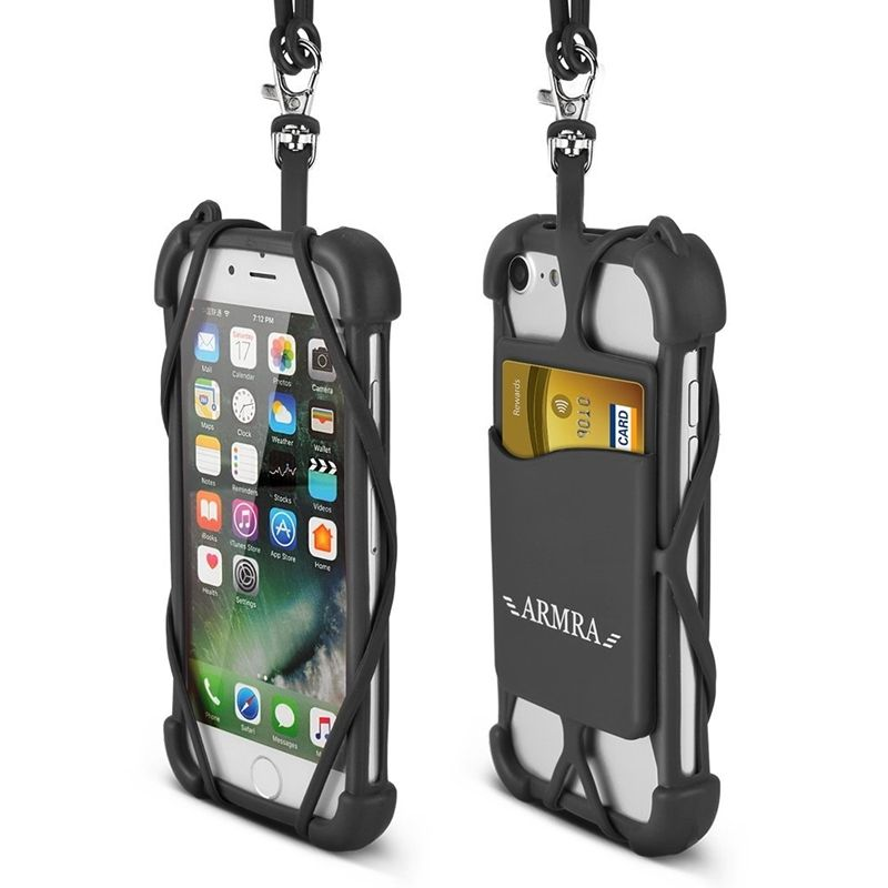 new styles bb335 53b51 2 in 1 Cell Phone Lanyard Strap Case, Universal Smartphone Neck ...