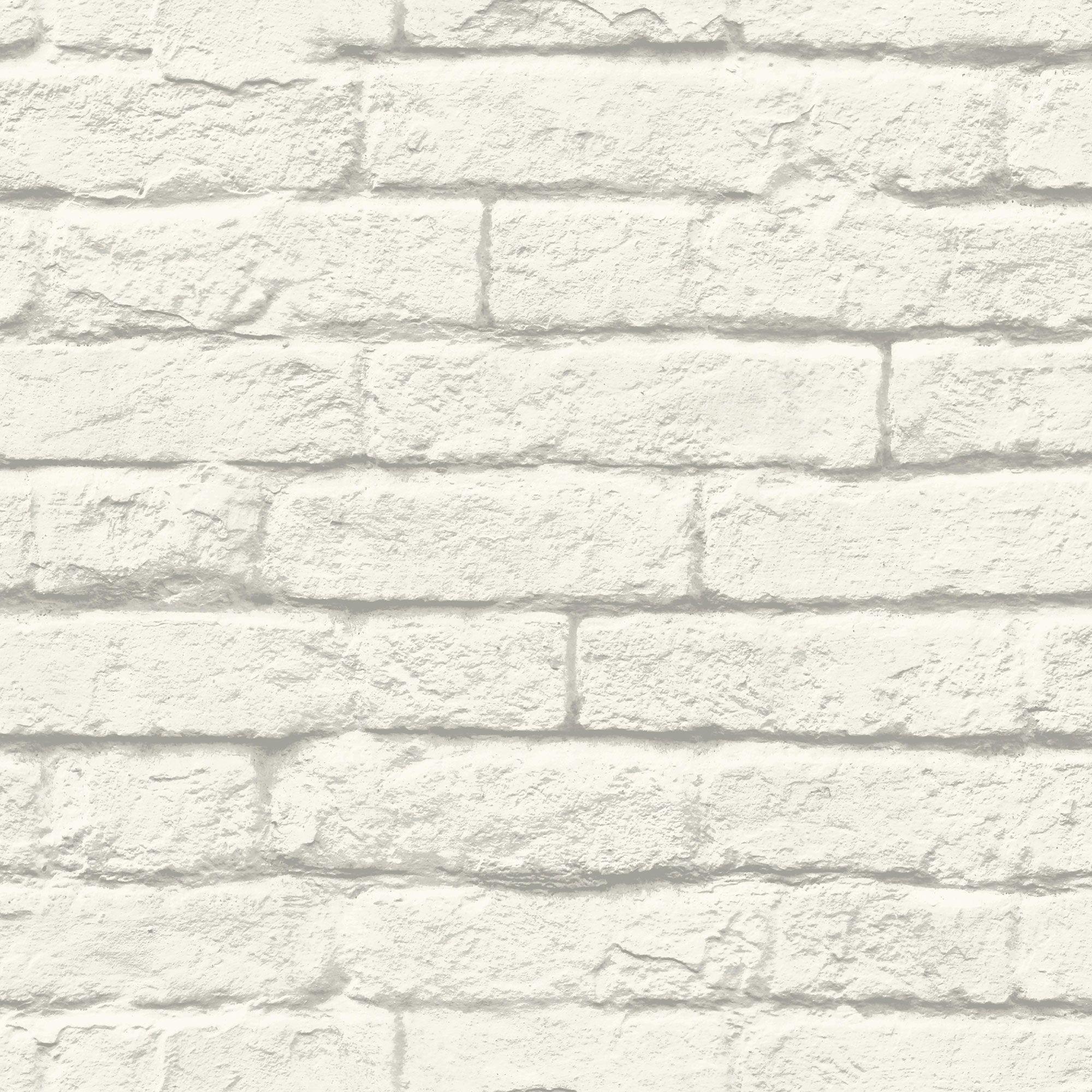 Magnolia Home BrickandMortar Wallpaper White/Gray