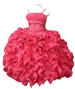 Vestidos De Graduación Para Niñas Color Coral 3 Vestidos