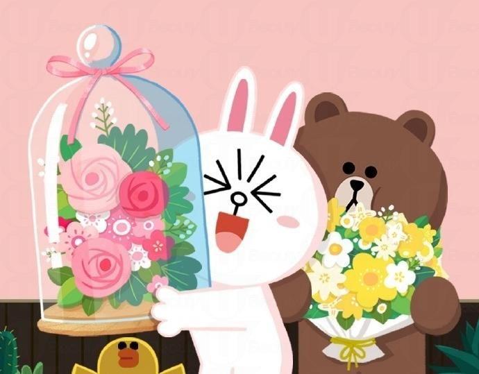 Pin By Mona Mae On Backgrounds: 熊大、兔兔浪漫攻擊!粉色控難以抵抗的誘惑 - U Beauty