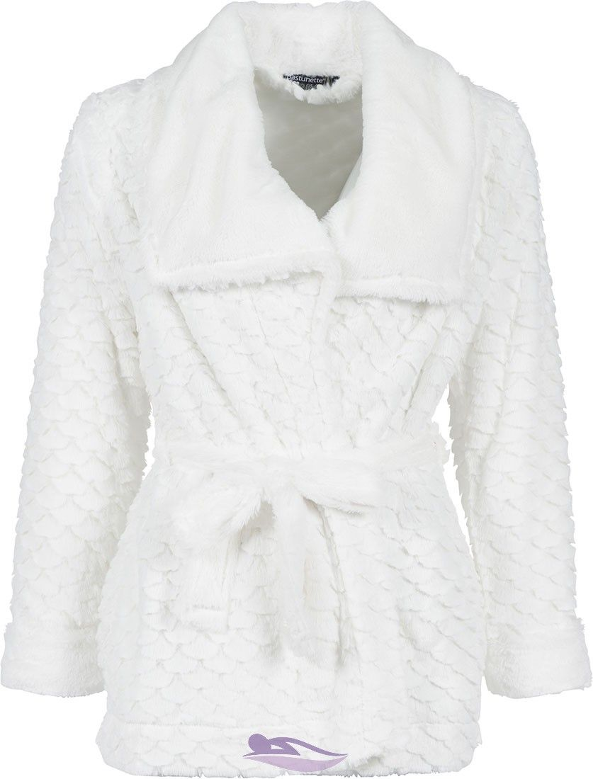 Add a bit luxury to your homewear wardrobe with this stylish Pastunette  Deluxe ivory fleece house coat with shawl collar 6c906a609