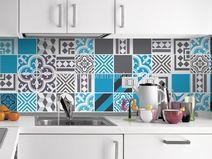 Adesivi decorativi per piastrelle sogni azzurri piastrelle e