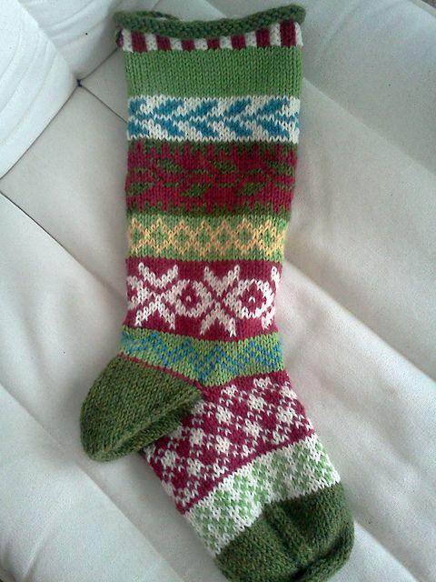 Fair Isle Christmas Stocking   knit   Pinterest   Fair isles ...