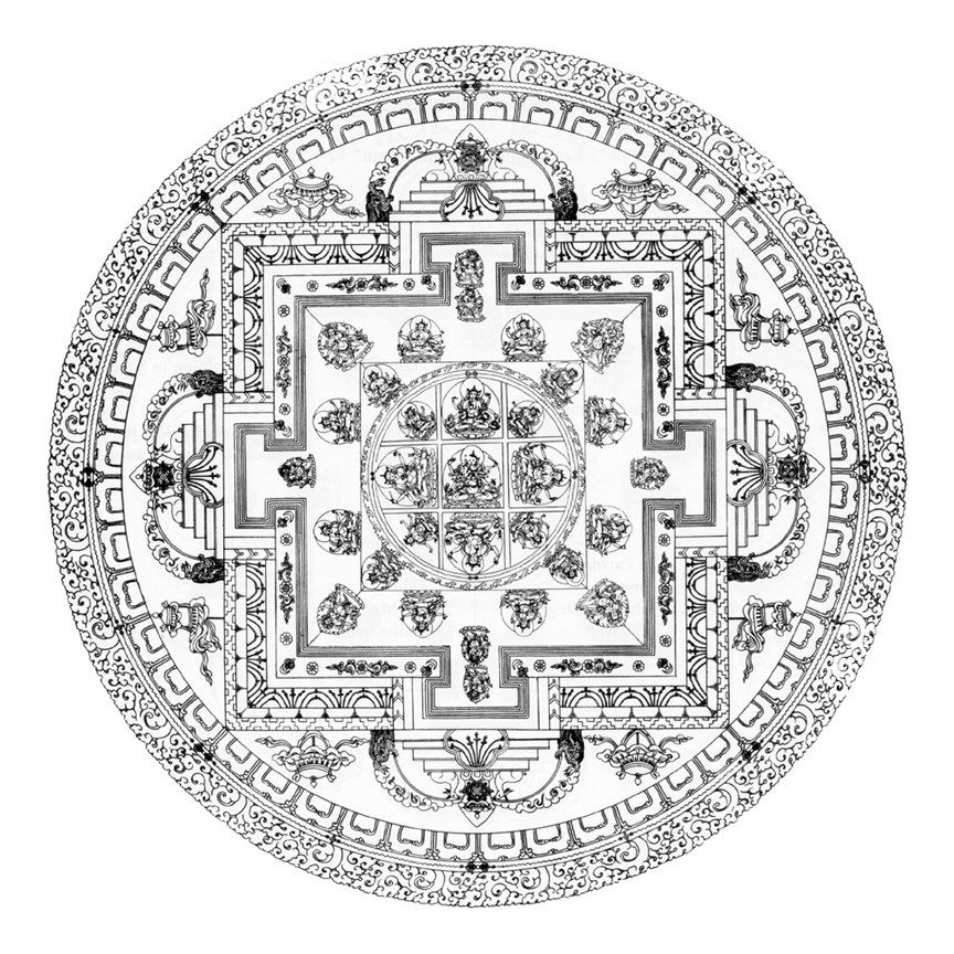 In the tibetan tradition all religious works of art are for Tibetan mandala coloring pages