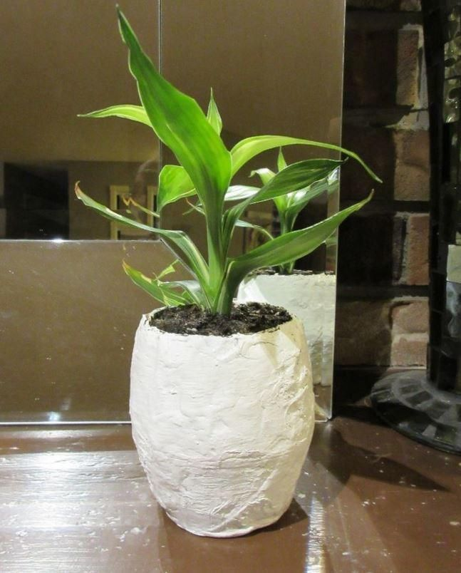 Papier Mache Pot For Plants New Paper Crafts Paper Paper Pot