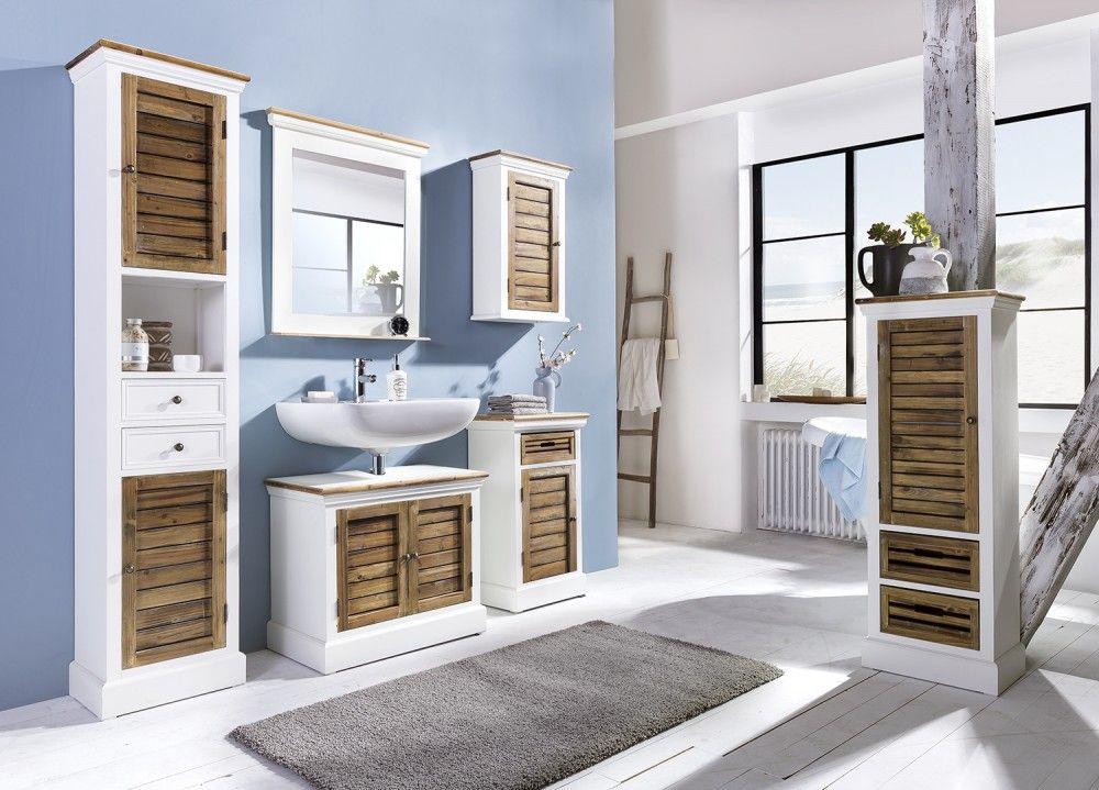 Möbel Direkt badset burgund 5 teilig antik look weiß graubeige lackiert