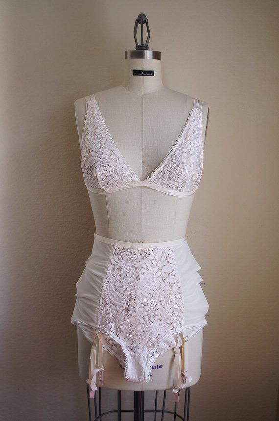 bcd8de1828 Handcrafted in California - Handmade by Elma This high waisted panty is  made of the softest pink lace