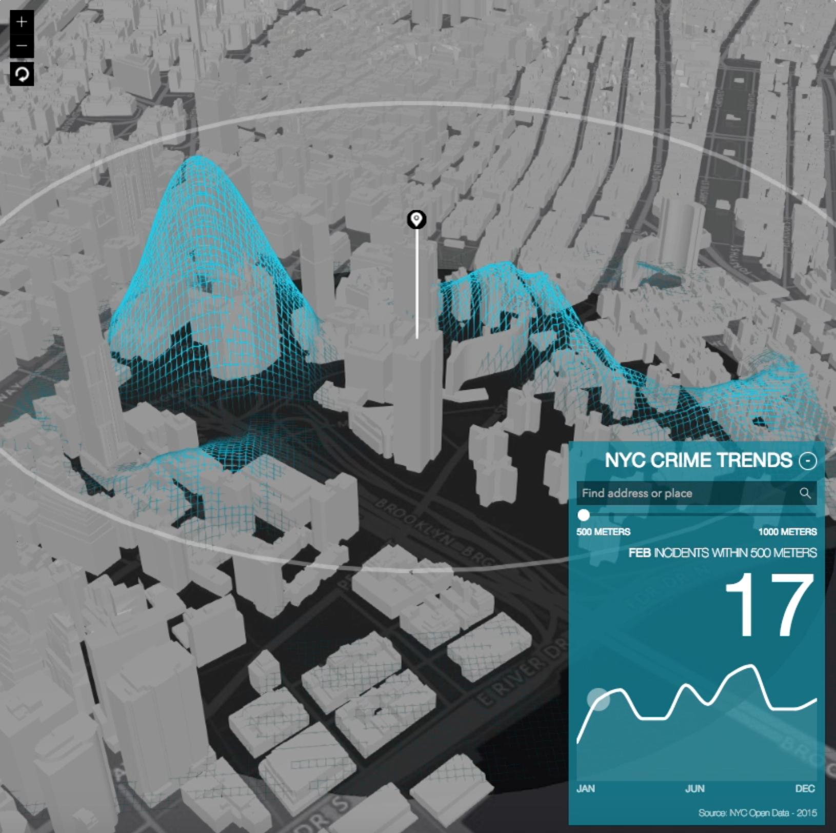 New York City D Crime Map D Maps Pinterest - New york map in 3d