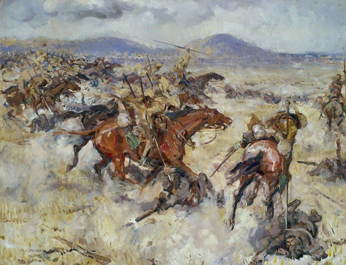 Thomas Cantrell Dugdale (British, 18801952) Charge of the