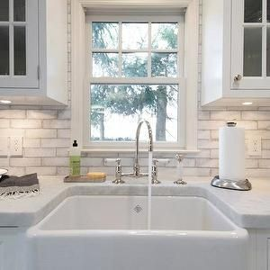 Paint To Look Like Gray Grout For Kitchen Backsplash  House Cool Kitchen Sink Backsplash Decorating Inspiration