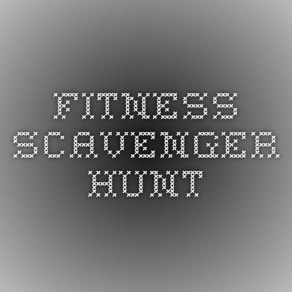 Fitness Scavenger Hunt