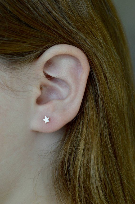 912a66ce0a0e52 Rose Gold Filled Star Stud Earrings, 4mm Star Earrings, Star Studs, Tiny  Star Earrings, Tiny Stud Ea