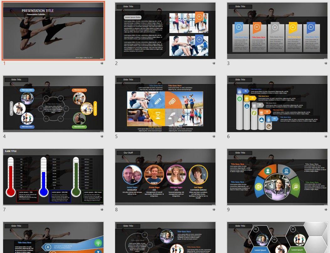 ballet dancers PowerPoint by SageFox