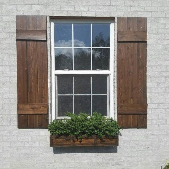 Wood Shutters Rustic Exterior Cedar Shutters Board And Batten House Projects Farmhouse