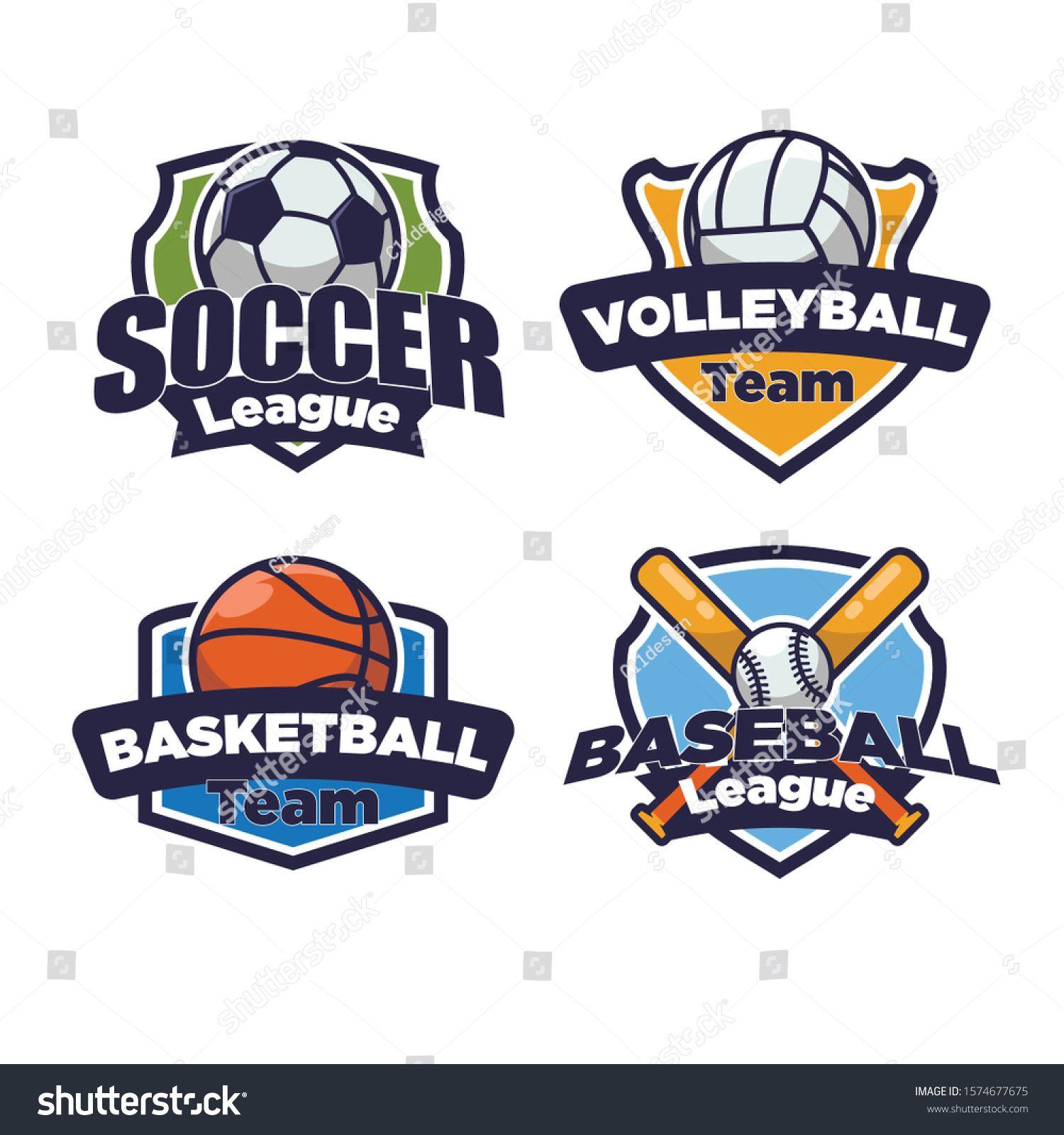 Sport Logo Set For Four Sport Disciplines Ad Ad Logo Sport Set Disciplines