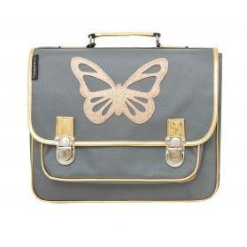 00a91aadff5 Grand Cartable Papillon or et gris - Special CE2/CM2 Caramel et Cie Existe  en plusieurs tailles | Cartable