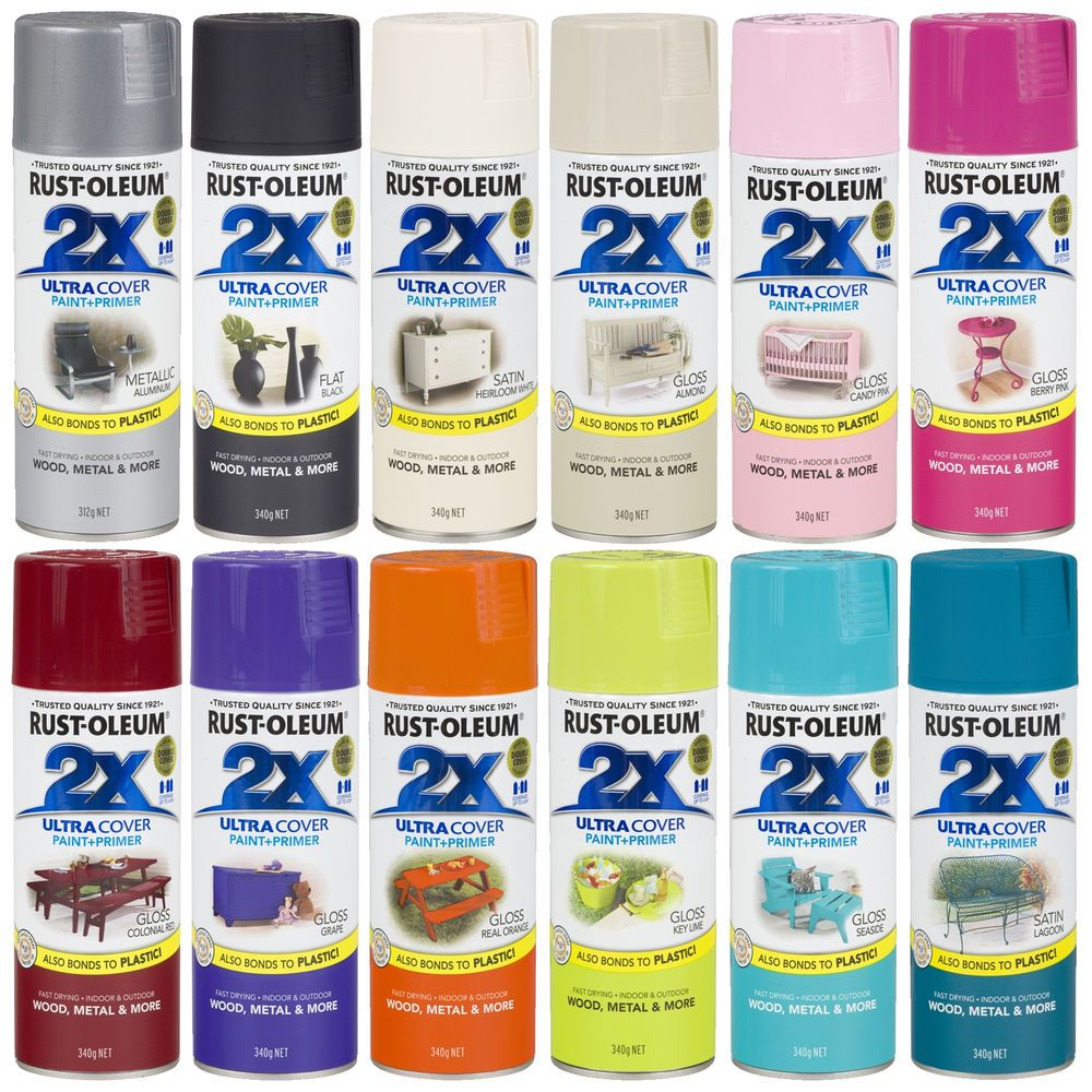 Rust Oleum 2x Ultra Cover Spray Paint Primer Gloss Satin Flat Double Coverage Paint Primer