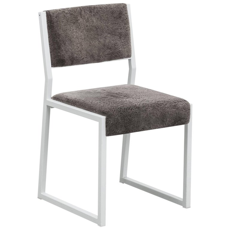 Bandholz Dining Chair By Uhuru White Metal Frame And Upholstered