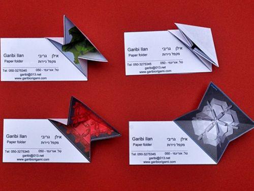 Quelques Exemples De Cartes De Visite Origami Cartes De