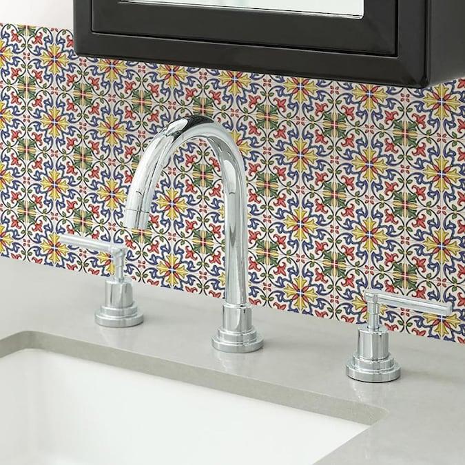 Inhome Tuscan Tile Peel And Stick Backsplash Tile Lowes Com Stick On Tiles Tuscan Tile Tile Backsplash