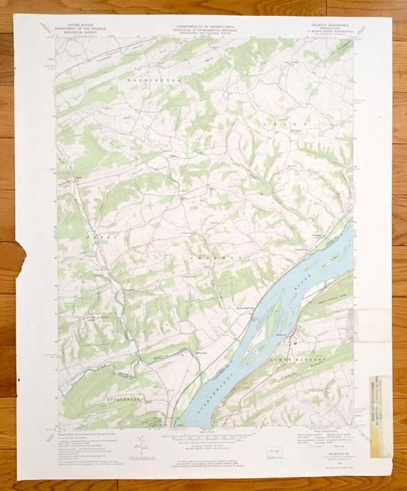 Antique Dalmatia, Pennsylvania 1969 US Geological Survey ... on old maps of columbia county, old schools in st. croix county wi, old texas state map,