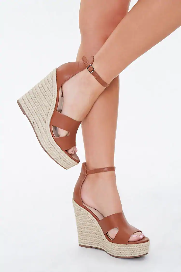 Cutout Espadrille Platform Wedges In 2020 Womens Espadrilles Wedges Womens Sandals Wedges Wedges Shoes Outfit