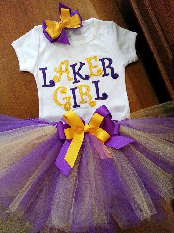 Lsu L A Lakers Inspired Tutu By Grannietutu On Etsy